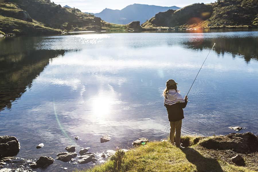 Pesca als Estanys de Tristaina